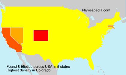 Surname Eliptico in USA