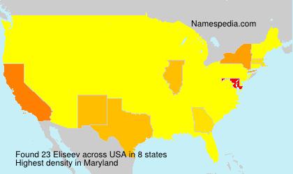 Surname Eliseev in USA