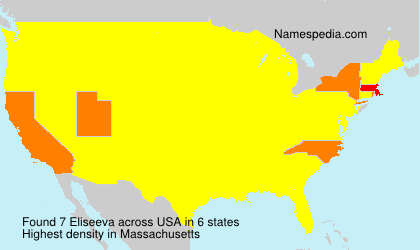Familiennamen Eliseeva - USA