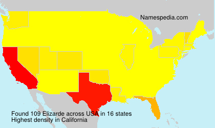 Surname Elizarde in USA