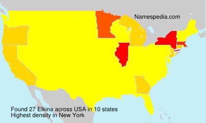 Surname Elkina in USA