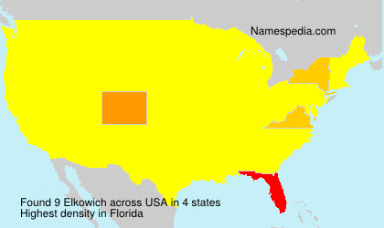 Surname Elkowich in USA