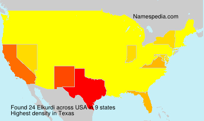 Surname Elkurdi in USA