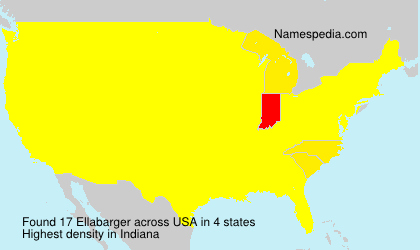 Surname Ellabarger in USA