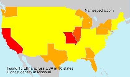 Surname Ellina in USA