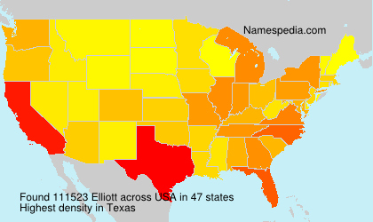 Surname Elliott in USA