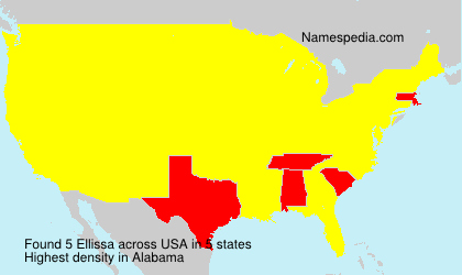 Surname Ellissa in USA