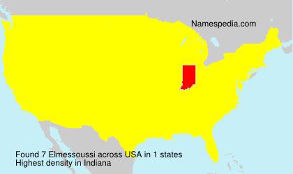 Familiennamen Elmessoussi - USA