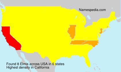 Surname Elmis in USA
