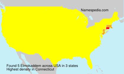 Surname Elmokaddem in USA