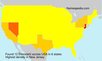 Surname Elmostehi in USA