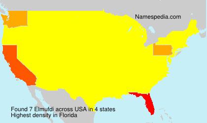 Familiennamen Elmufdi - USA