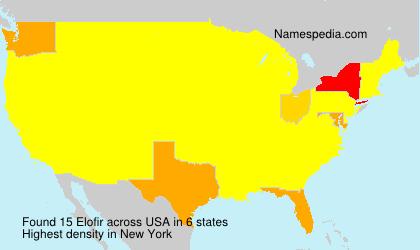 Surname Elofir in USA