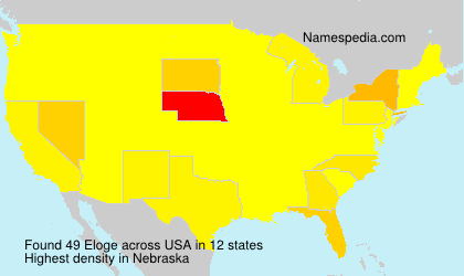 Surname Eloge in USA