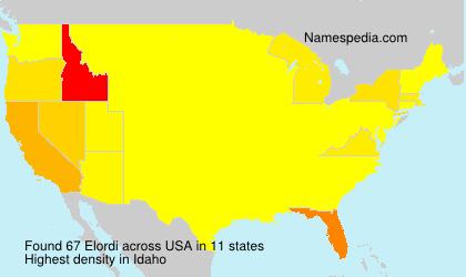 Surname Elordi in USA