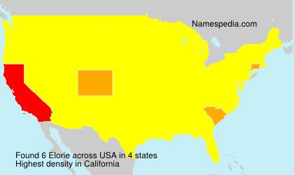 Familiennamen Elorie - USA