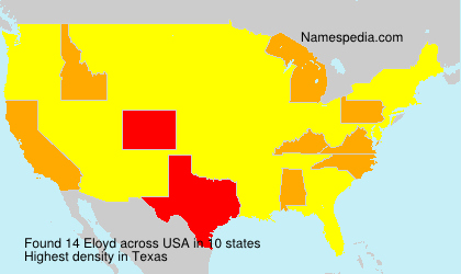 Surname Eloyd in USA