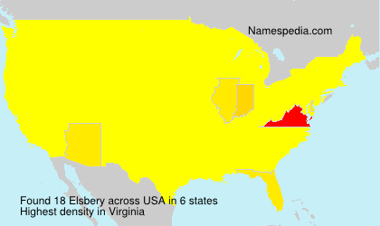 Surname Elsbery in USA