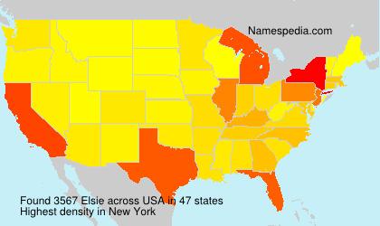 Surname Elsie in USA