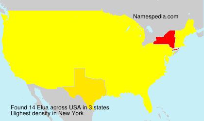 Surname Elua in USA