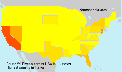 Familiennamen Elvena - USA