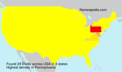 Surname Elville in USA