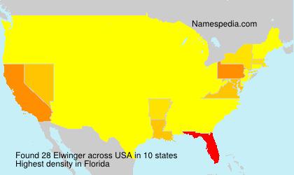 Surname Elwinger in USA