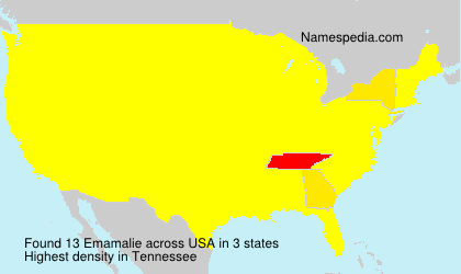 Surname Emamalie in USA
