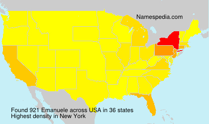 Surname Emanuele in USA