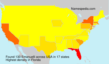 Surname Emanuelli in USA