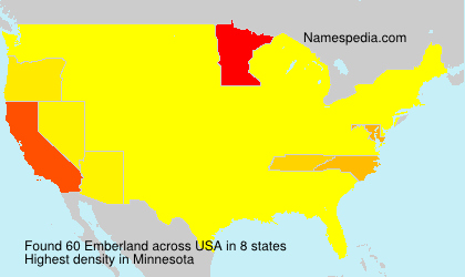 Familiennamen Emberland - USA