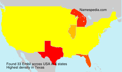 Surname Embil in USA