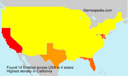 Surname Emblad in USA