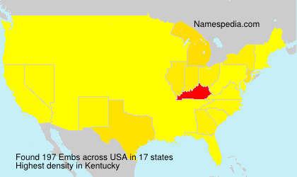 Familiennamen Embs - USA