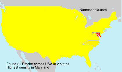Surname Emche in USA