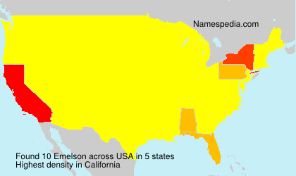 Surname Emelson in USA