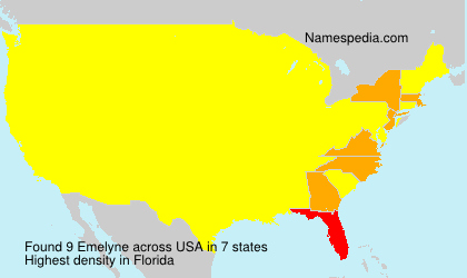 Surname Emelyne in USA