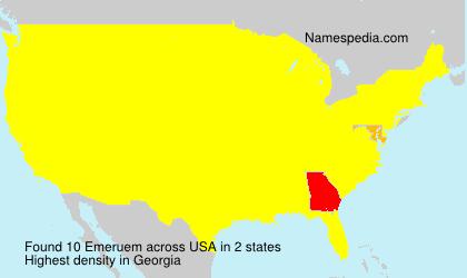 Familiennamen Emeruem - USA