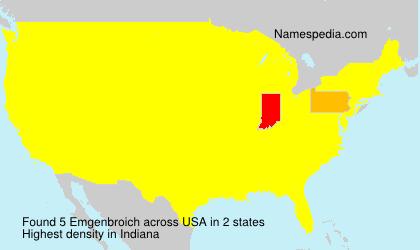 Surname Emgenbroich in USA