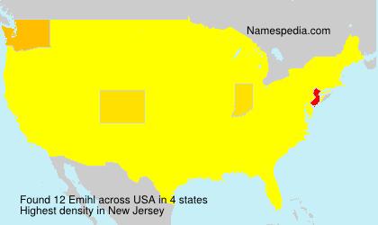 Surname Emihl in USA