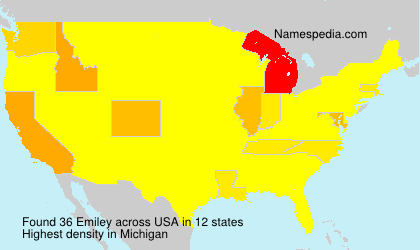 Surname Emiley in USA