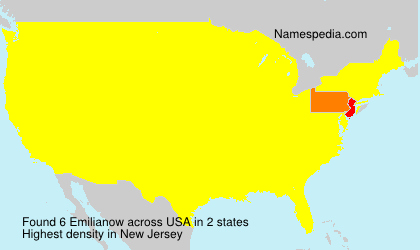 Surname Emilianow in USA