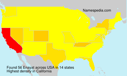 Surname Enayat in USA