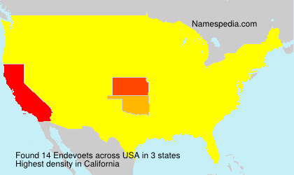 Surname Endevoets in USA