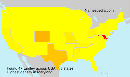 Surname Endley in USA