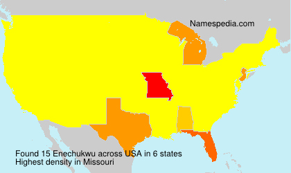 Surname Enechukwu in USA