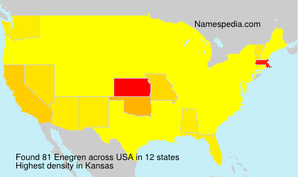 Surname Enegren in USA