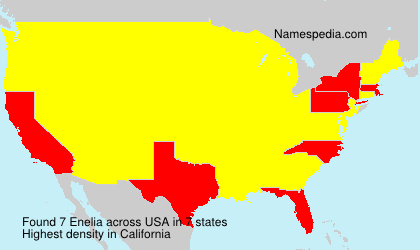 Surname Enelia in USA