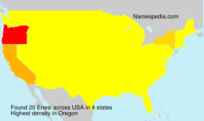 Surname Enesi in USA