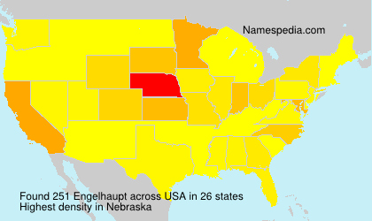 Surname Engelhaupt in USA